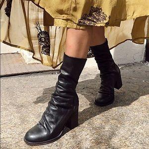 FREE PEOPLE Elle Block Heel Boot (black)